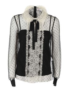 Red Valentino - Tulle blouse in black