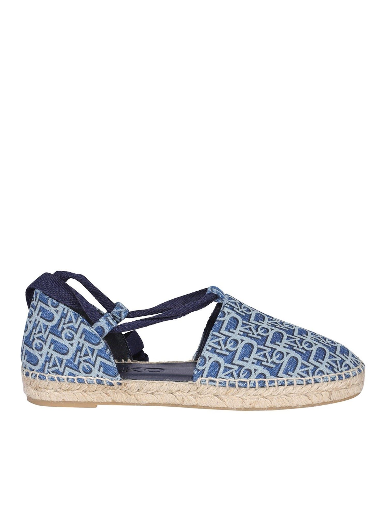 Pinko PINKO DENIM EFFECT ESPADRILLES IN BLUE