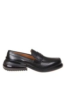 Maison Margiela - Airbag heel loafer in black