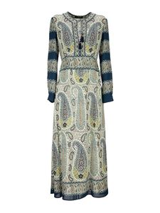 Etro - Mosaic Paisley printed dress in blue
