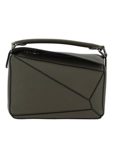 Loewe - Puzzle small bowling bag in green