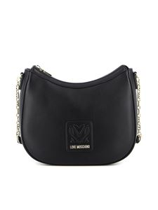 Love Moschino - Faux leather shoulder bag in black