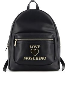 Love Moschino - Zaino in similpelle nera logato
