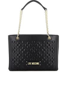 Love Moschino - Quilted tote in black