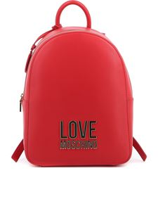 Love Moschino - Vegan leather backpack in red