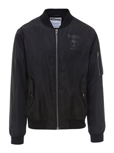 Moschino - Nylon bomber jacket in black