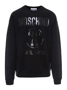 Moschino - Logo lettering sweatshirt in black