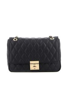 Twin-Set - Quilted synthetic leather shoulder bag in black