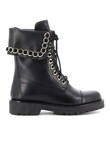 Twin-Set - Smooth leather boots in black