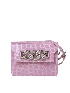 N° 21 - Crocodile print bag in pink
