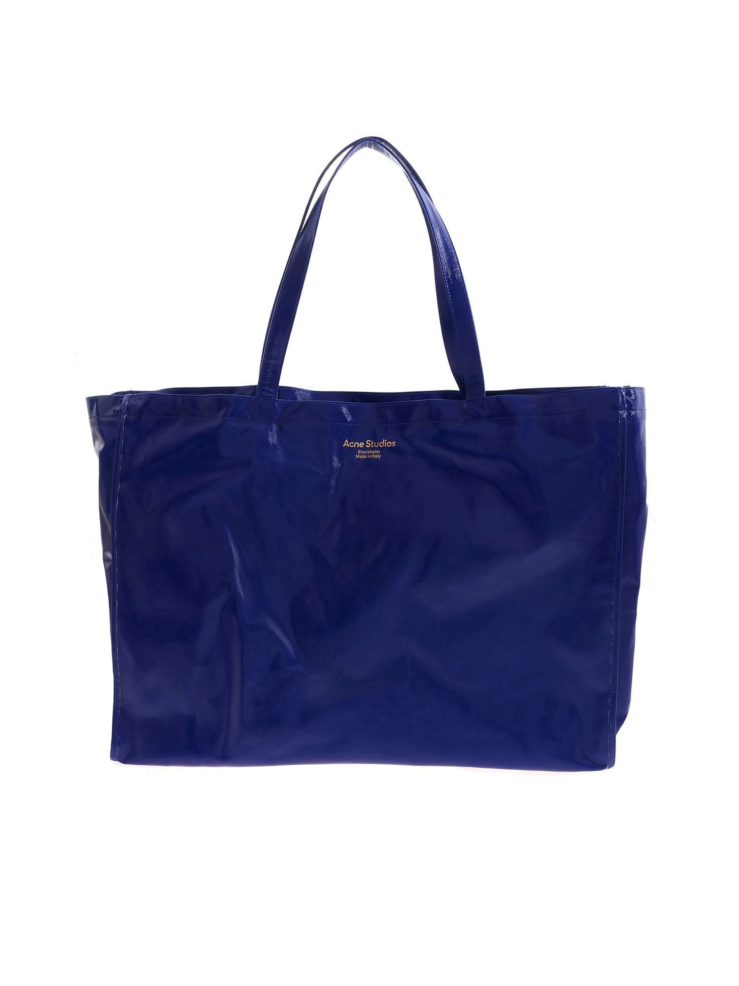 Acne Studios COATED SHOPPING BAG IN BLUE