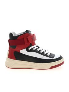 Acne Studios - High sneakers in black red and white