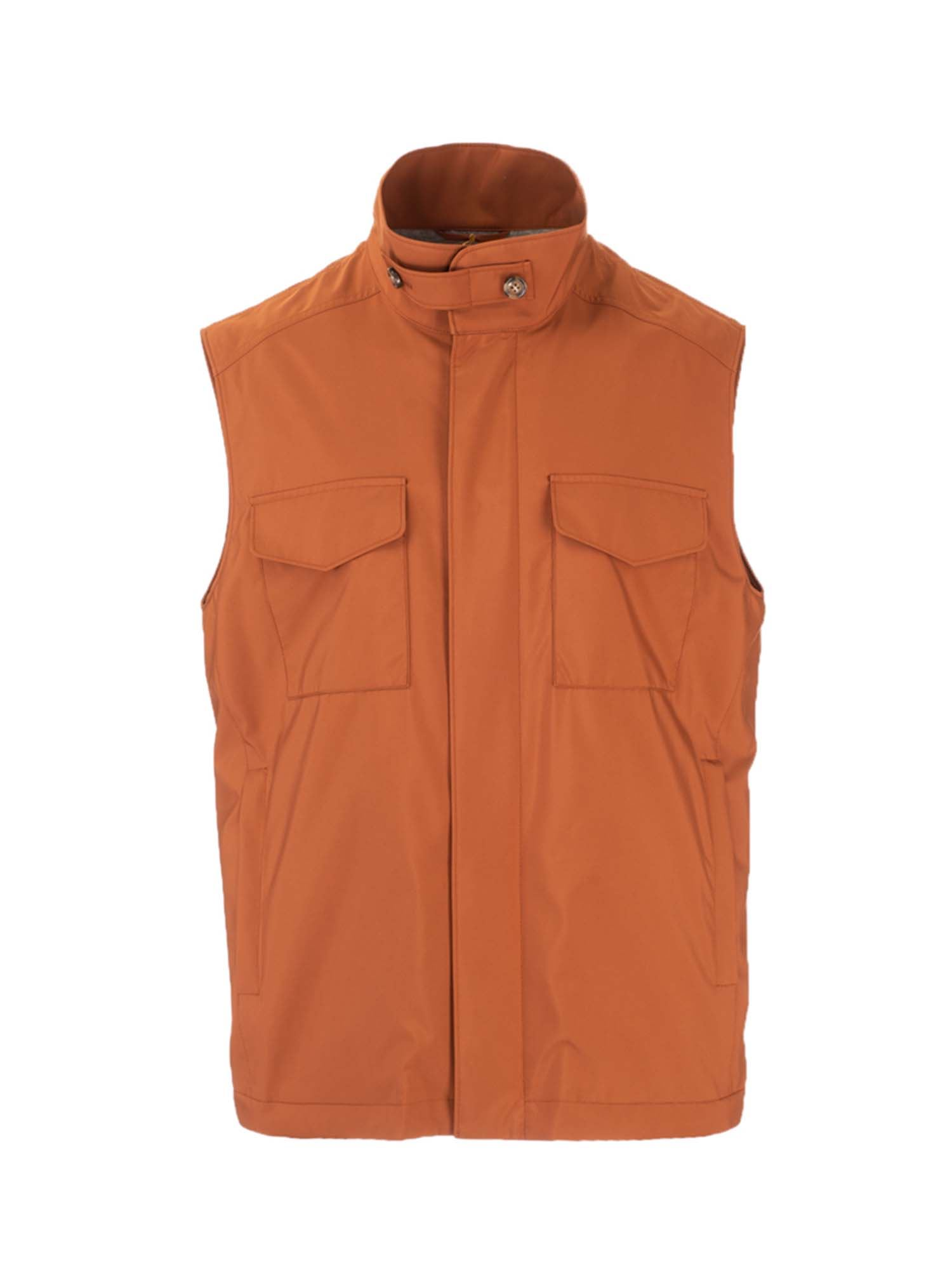 Loro Piana TRAVELER WINDMATE WAISTCOAT IN SOFT RUST