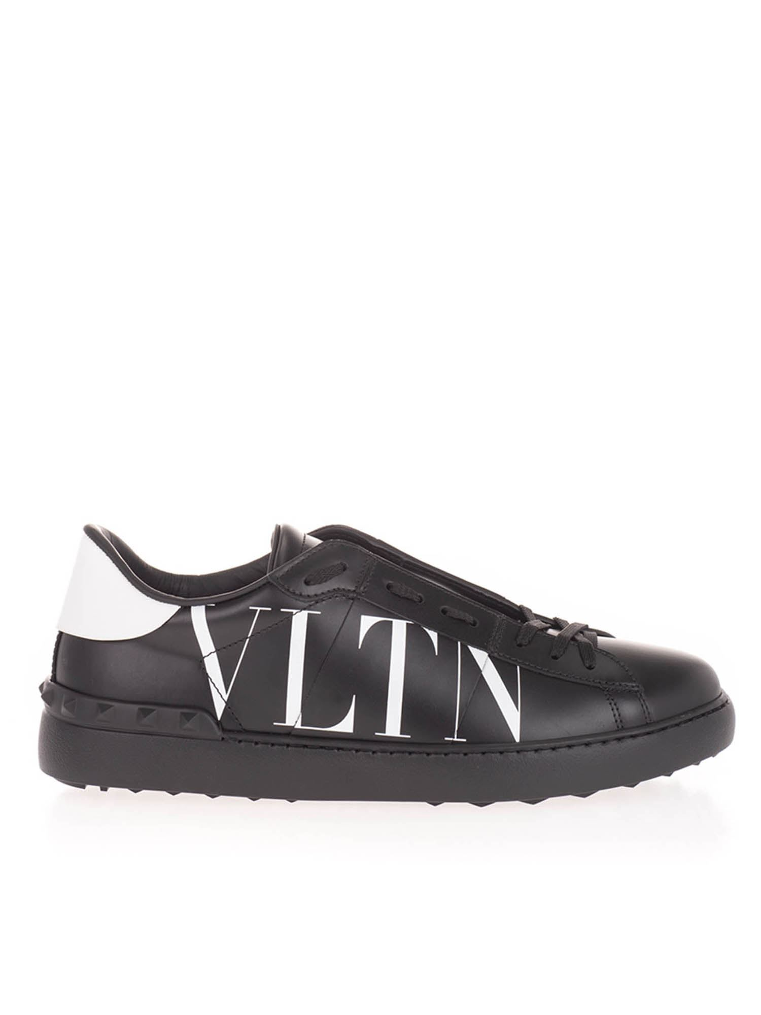 Valentino OPEN SNEAKERS IN BLACK