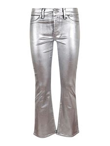 7 For All Mankind - Coated Slim Illusion Silver jeans