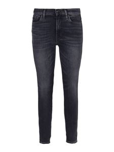 7 For All Mankind - Skinny Crop Slim Hw Illusion Lights Out jeans