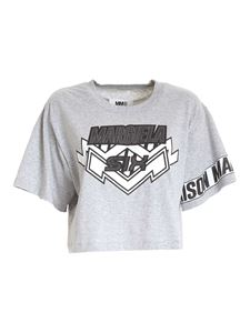 MM6 Maison Margiela - Short T-shirt with print in grey