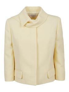 Alexander McQueen - Boxy tailored jacket in yellow