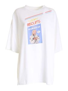 MM6 Maison Margiela - T-shirt with contrasting print in white