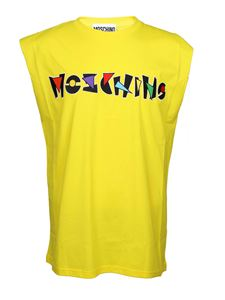 Moschino - Sleeveless t-shirt in yellow