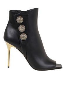 Balmain - Sara 100 leather ankle boots in black