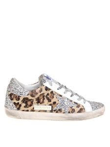 Golden Goose - Superstar animal print sneakers with glitter