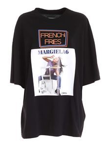 MM6 Maison Margiela - T-shirt with contrasting print in black