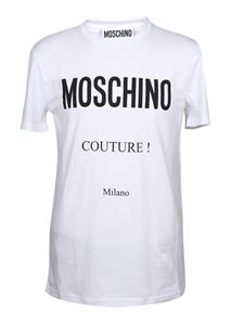 Moschino - Black logo t-shirt in white