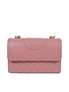 Tory Burch - Fleming quilted leather bag in pink