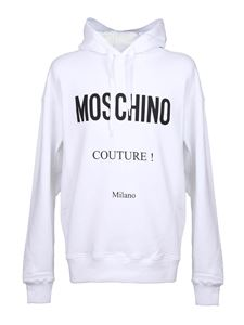 Moschino - Hooded sweatshirt in white