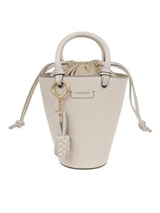 See by Chloé - Cecilya small grained leather bag in beige