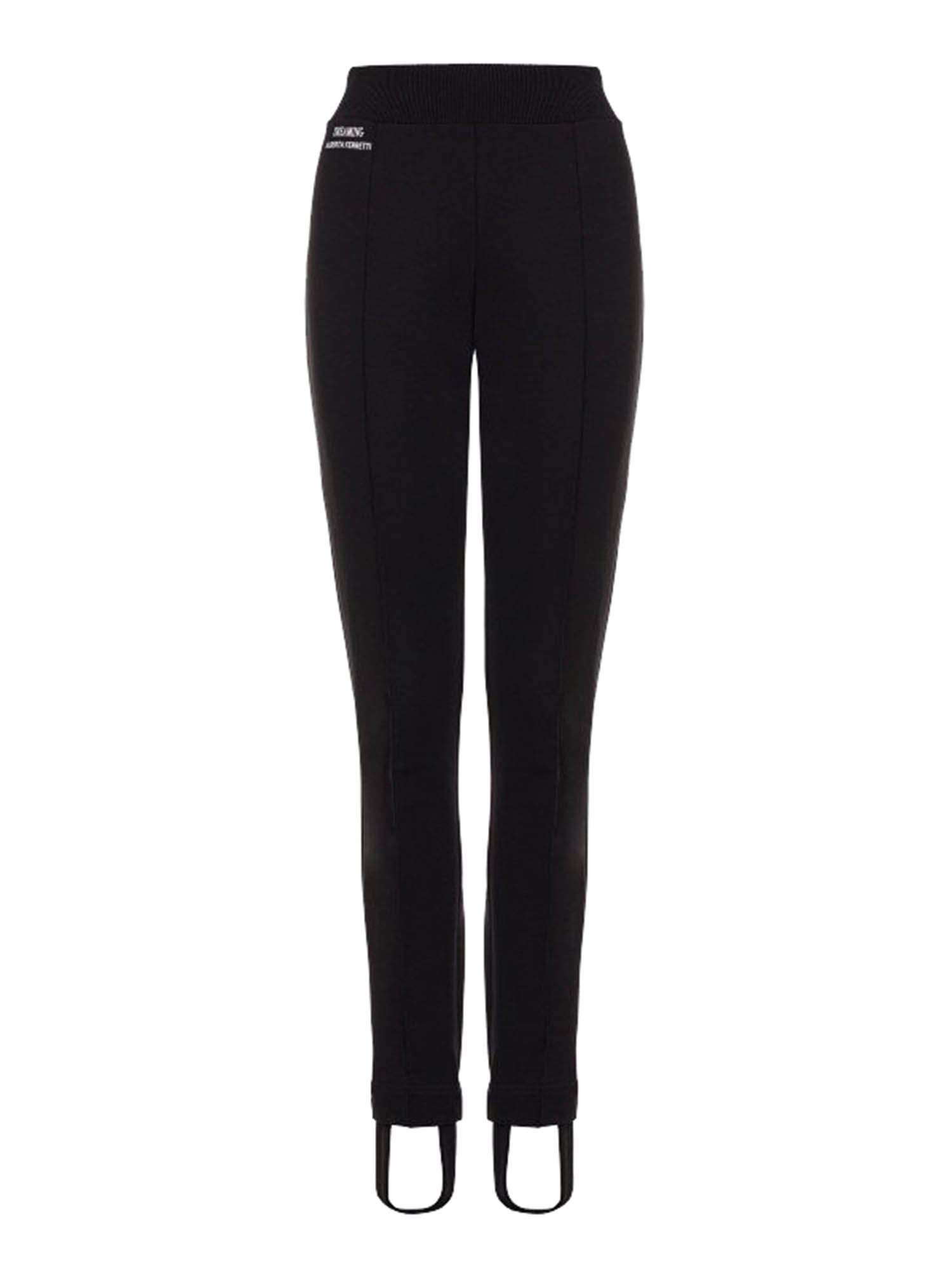 Alberta Ferretti ALBERTA FERRETTI STIRRUP LEGGINGS IN BLACK
