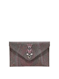 Etro - Toys clutch in brown