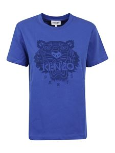 Kenzo - Classic Tiger embroidery T-shirt in blue