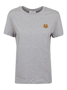 Kenzo - Tiger embroidery cotton T-shirt in grey