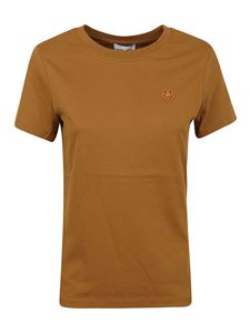 Kenzo - Tiger embroidery T-shirt in camel color
