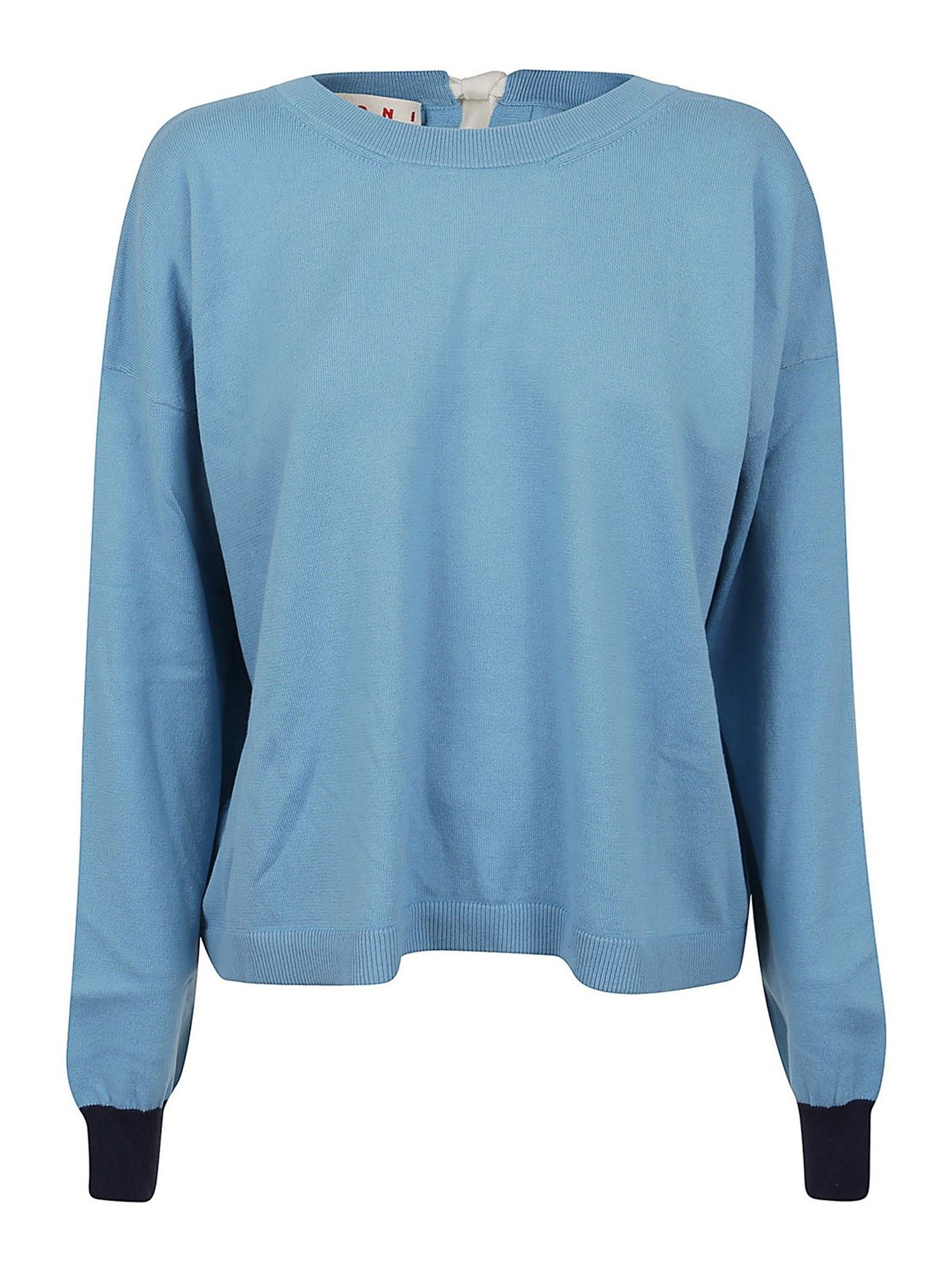 Marni CASHMERE BLEND CREWNECK IN LIGHT BLUE