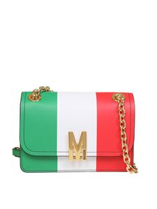 Moschino - Tricolor bag in green white and red