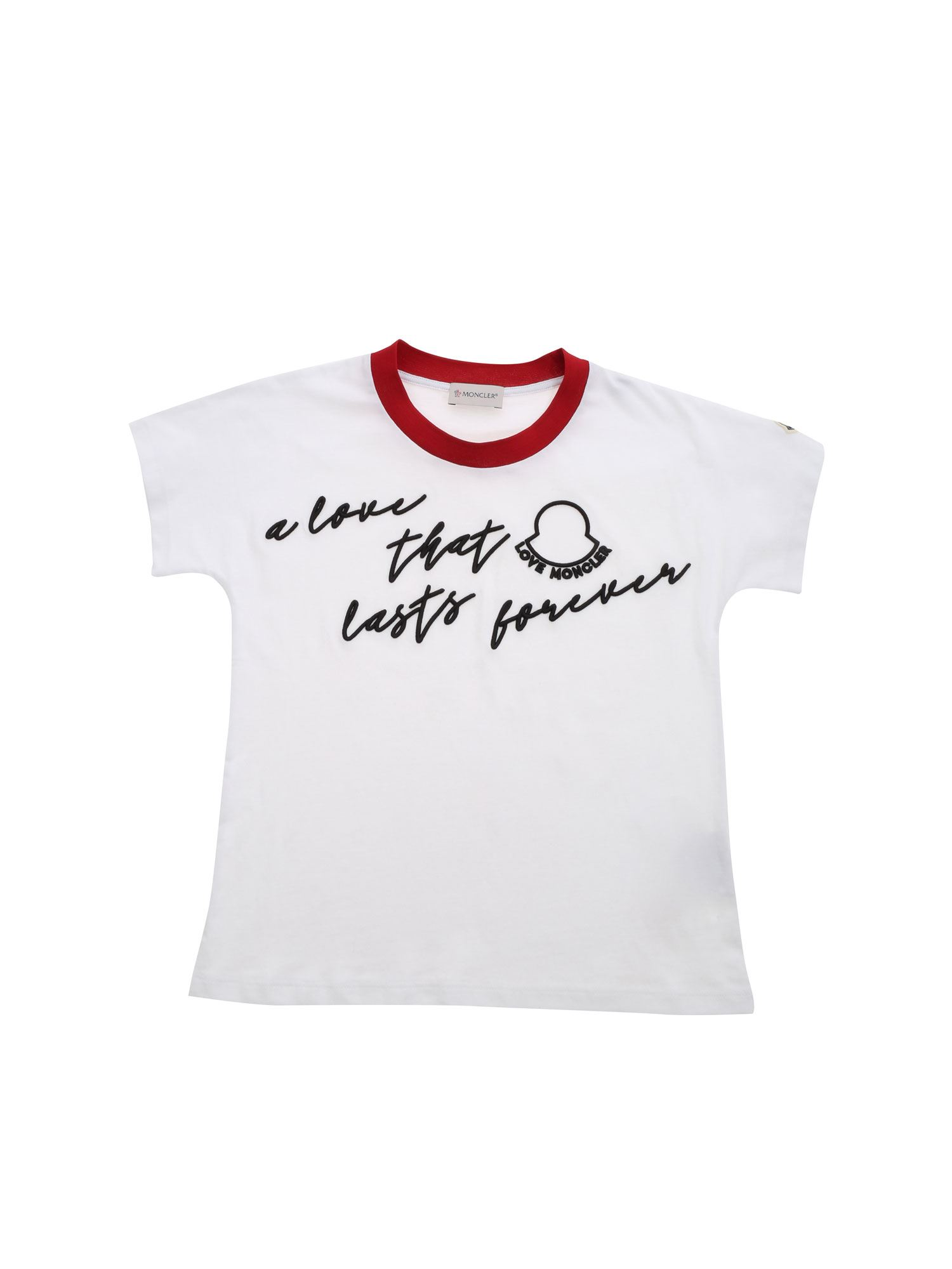 Moncler Jr A LOVE THAT LASTS FOREVER T-SHIRT IN WHITE