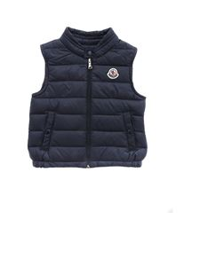 Moncler Jr - New Amaury sleeveless down jacket in blue