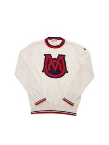 Moncler Jr - M inlay sweater in ivory