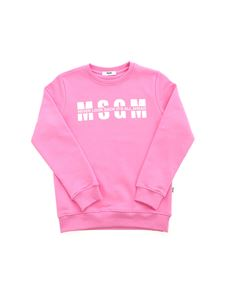MSGM Kids - Never Look Back It's All Ahead sweatshirt in pink