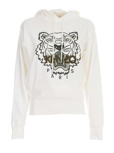 Kenzo - Classic Tiger hoodie in white