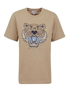 Kenzo - Classic Tiger embroidery T-shirt in beige