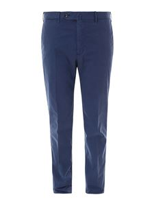 PT Torino - Stretch cotton pants in blue