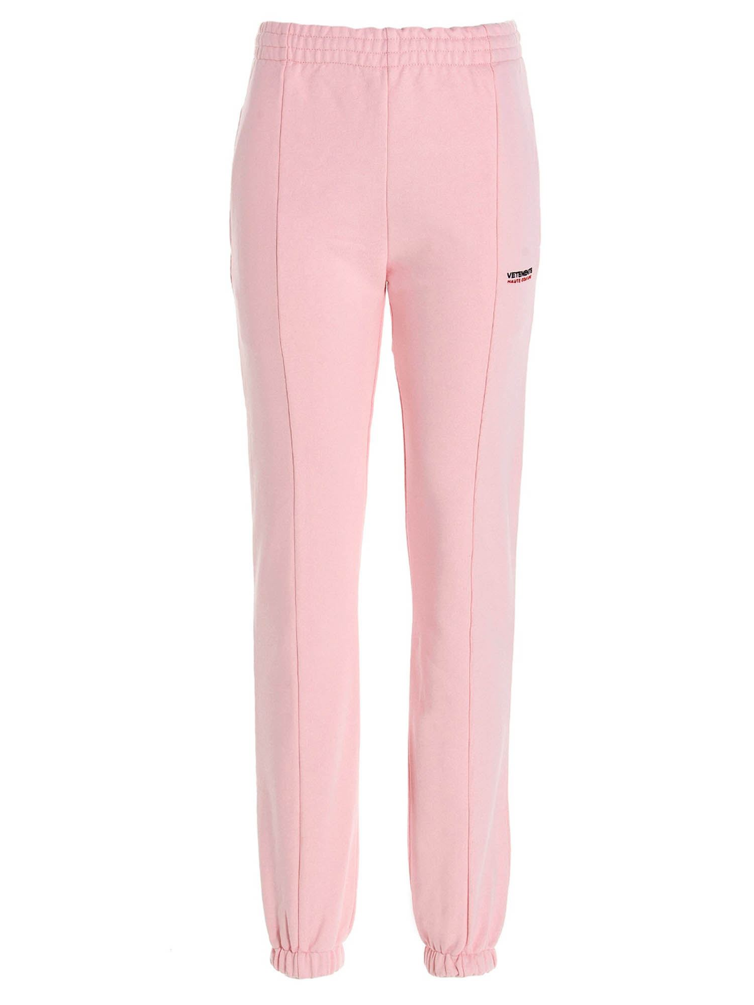 Vetements HAUTE COUTURE JOGGERS IN PINK