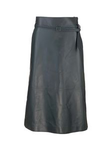 Loro Piana - Leather skirt in dark green