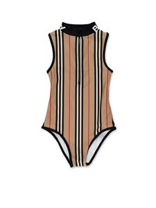 Burberry - Zippered swimsuit in Archive Beige