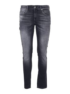 7 For All Mankind - Ronnie Stretch Tek Leo jeans in black