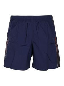 Alexander McQueen - Nylon swim shorts in blue
